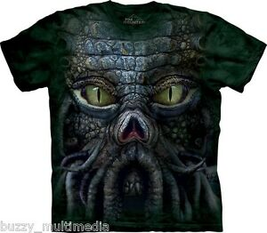Cthulhu-Big-Face-Shirt-Mountain-Brand-In-Stock-Small-5X-Lovecraft-tee