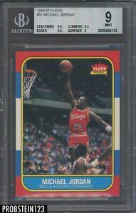 1986 Fleer Basketball #57 Michael Jordan RC Rookie HOF BGS 9 w/ 9.5's PRISTINE