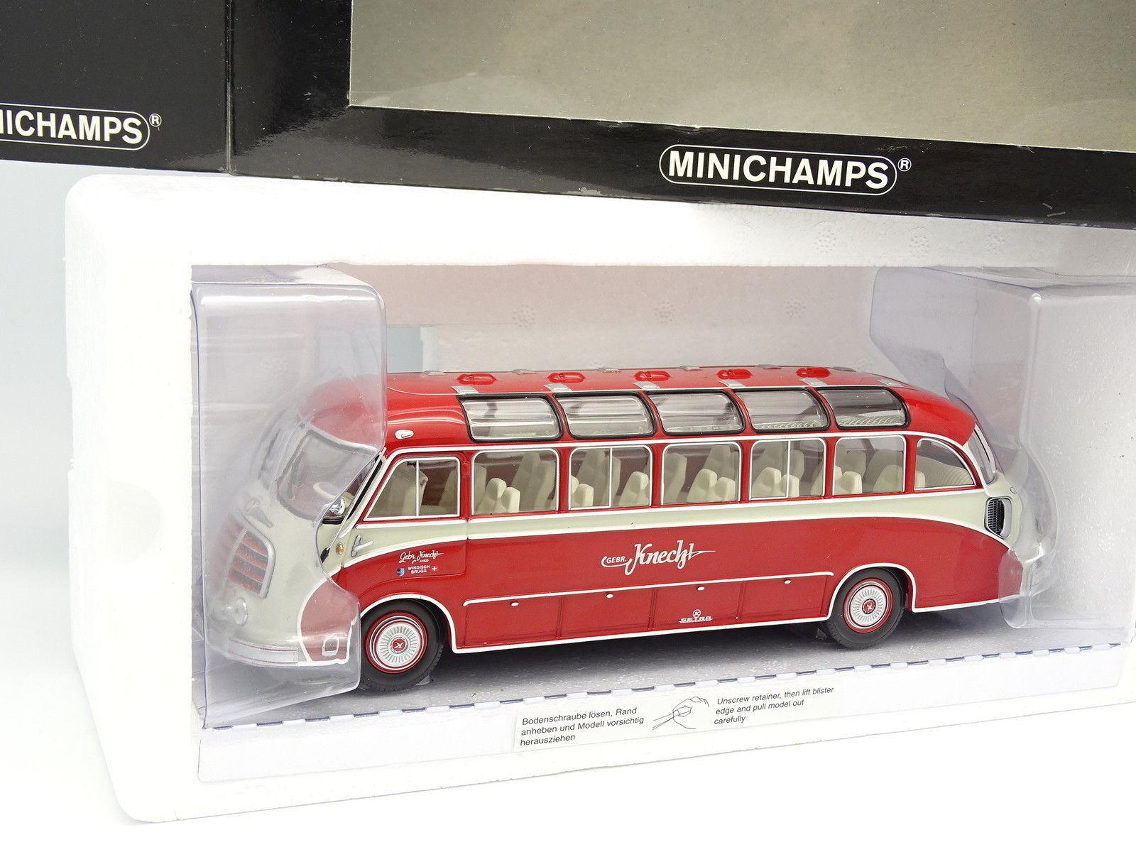 Minichamps 1 43 - Car Autocar Setra S8 1953 Rojo Knecht Reisen Suizo