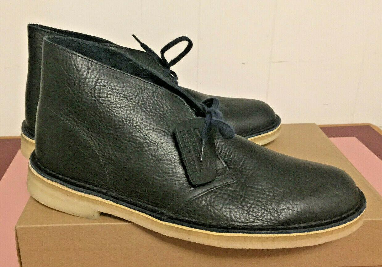 Clarks Original Desert Boots Navy Tumbled Leather New In Box Multiple Sizes
