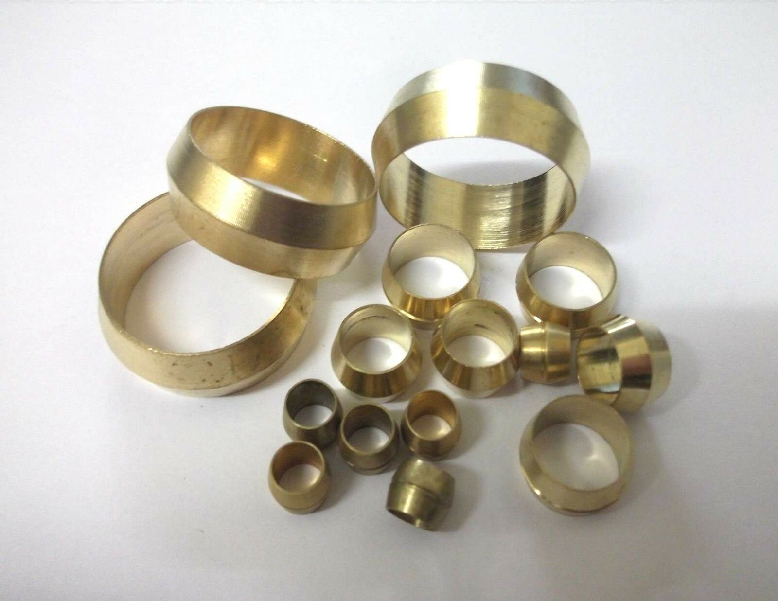 STEPPED OLIVES METRIC BRASS 6MM PLUMBING COMPRESSION FUEL COPPER PIPE x 100