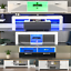 thumbnail 1 - Modern White TV Stand Cabinet LED Unit Matt body and High Gloss Doors  Lights