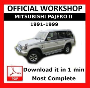 />/> OFFICIAL WORKSHOP Manual Service Repair Mitsubishi Pajero II 1991-1999