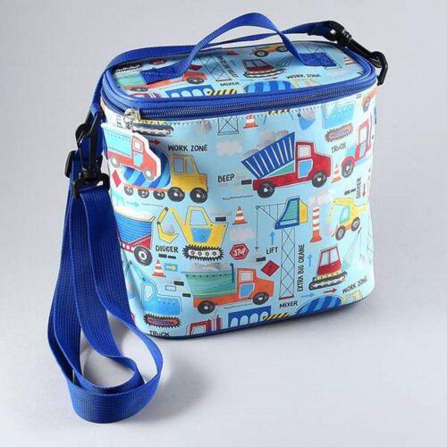 Floss /& Rock Construction Blue Cool Insulated School Lunchbag Pack Boys Children