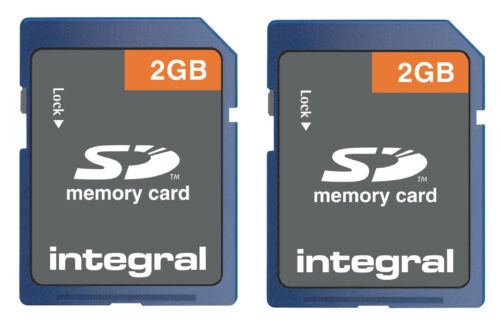 Pack of 2 Integral Class 4 2GB 4MB//s SD Cards