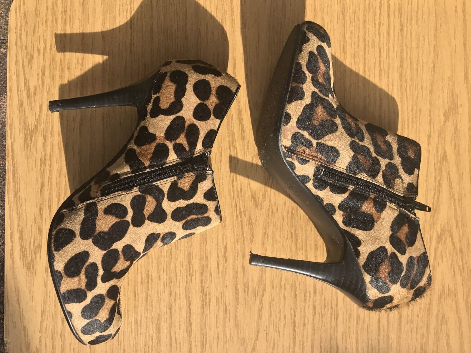 EPISODE HOUSE LEOPARD OF FRASER LEOPARD HOUSE ANIMAL PRINT LEATHER ANKLE Stiefel BOOTIES 8 10 41 dffa5c