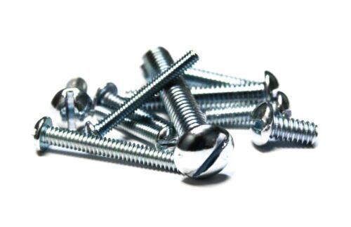 """- Zinc 5//16 x3//4/"""" Machine Screws Round Head 500 Slotted"""