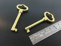 Grandfather Clock Door Key Set Of 2 In Brass Finish For Howard Miller
