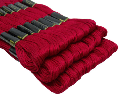 25 Anchor Coats Red Color #47 Cross Stitch Cotton Embroidery Thread Floss//Skein