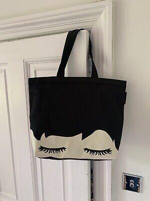 Genuine New Lulu Guinness Lip Blot Luisa Tote black strong large shopper RRP £80