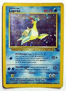POKEMON-TCG-CARD-GAME-CARTE-FOSSIL-LAPRAS-HOLO-FOIL-10-62-NUOVA