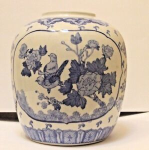 Details About Blue White Porcelain Lamp Base Chinese Vase Drilled For Lamp Base Stunning