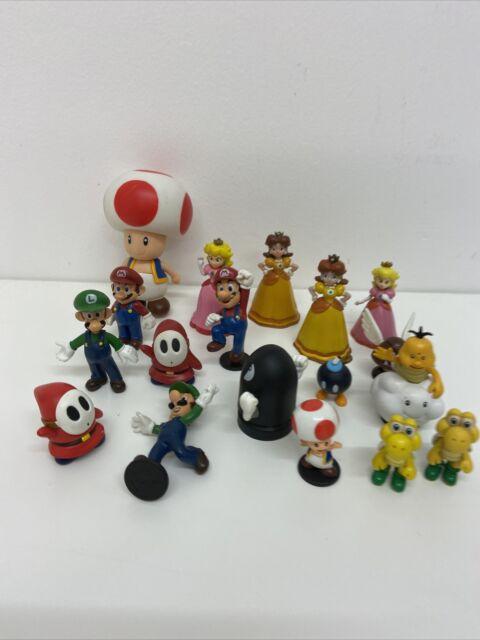 Bundle Of Super Mario Figures - Princess Peach, Luigi, Bullet Bill, Toad Etc