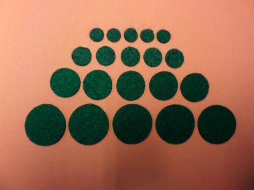 PROTECTORS 19 /& 25mm* SELF ADHESIVE FELT CIRCLES FELT DOTS 12 FELT PADS *9.5