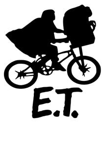 AND ELLIOT ON BIKE VINYL DECAL Laptop Wall Door Window Sticker E.T