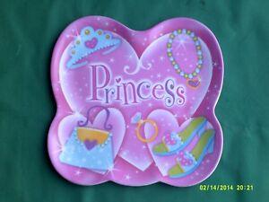 """Enfant Princesse Plastique Plaque 9"""" X 9"""" Costumes Poupées Teaset Play Etc-afficher Le Titre D'origine SuppléMent éNergie Vitale Et Nourrir Yin"""