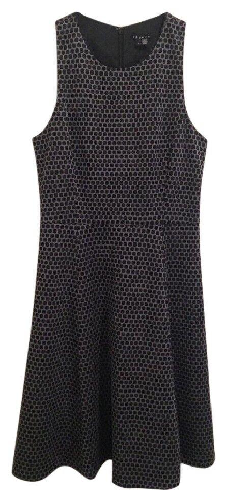Theory damen schwarz Weiß Sleeveless Dress New NWT Small 4