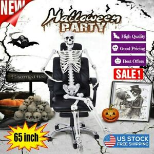 65-034-Posable-Full-Life-Size-Skeleton-Halloween-Party-House-Hunted-Prop-Decor-Park