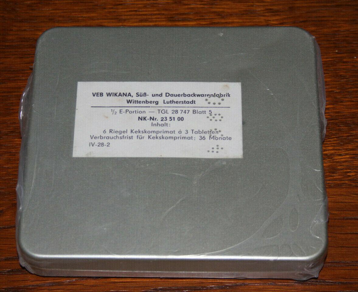 Bild 1 - DDR NVA Komplekte - Kekskomprimat - Eiserne Ration - in ungeöffneter OVP