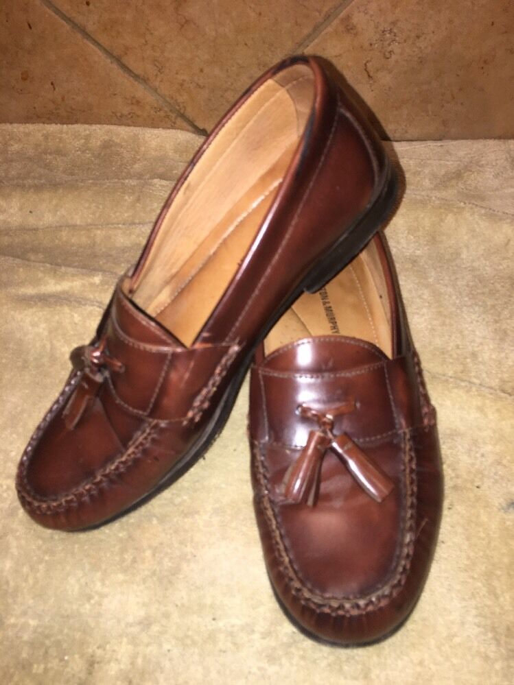 Johnston & Murphy Size Brown LeatherTassel Loafers Size Murphy 9 M 10e999