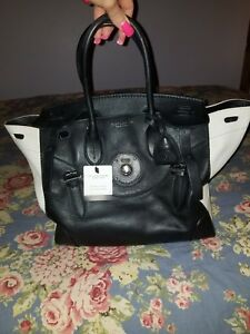 4d7fad5b1ab3 NWT 100% Authentic RALPH LAUREN SOFT RICKY BAG 33 Truffle (Org price ...