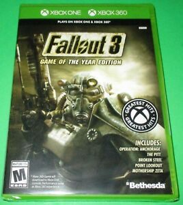 Details about Fallout 3 -- Game of the Year Edition Xbox One + Xbox 360!  *New! *Free Shipping!