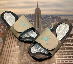 618e461a3e9 Nike Jordan Hydro V 5 Retro Slide Sandal 3M Charlotte Hornets Size ...