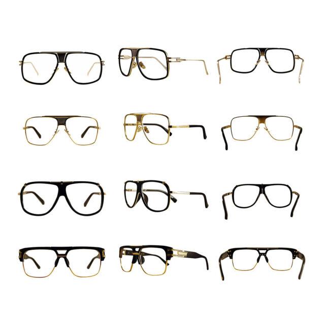 Vintage Square Classic Fashion Pilot  Hip Hop Clear Lens Glasses Geek New #RAP