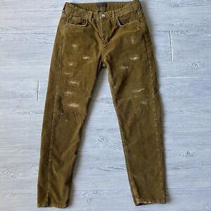 Zara Pantalones De Pana Cenido Ajustado Para Hombre Talla Etiqueta 32 Real 31 X 27 Ebay