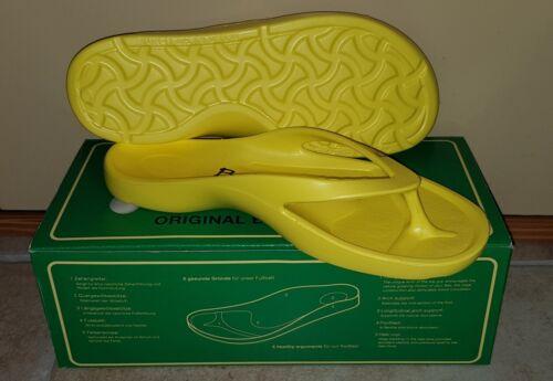 Flip Flops mit OVP Gr 41 Gelb Betula Zehentrenner