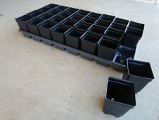 Set Of 3 Divided Trays And 96 2 5 Inch Square Deep Nursery Pots Landmark