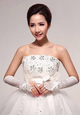 Flowers Bridal Fingerless Elbow Length Wedding Party Bridesmaid Gloves