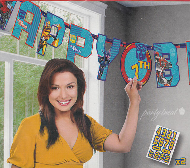 Transformers Birthday Party Supplies Prime Letter Banner Decorations Add Age