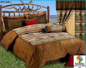 7pc Comforter Set Deer Wildlife Buck Deer Doe Lodge Cabin Bedding Decor Ebay