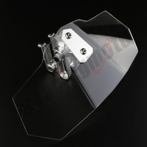 Adjustable Clip On Windshield Spoiler High Windscreen For YAMAHA FJR1300 2003-05