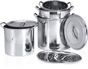 Deep-Large-Stainless-Steel-Casserole-Cook-Stockpot-Saucepan-Soup-Stew-Pots-amp-Lid