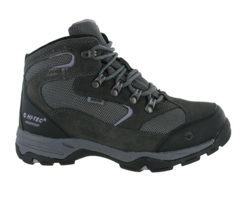 Hi-Tec Storm Waterproof Leather Suede Lace Up Walking Womens Trail Boots Grey