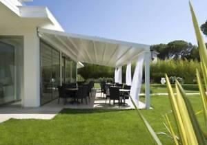 Details zu Faltdach Pergola 15 m2 - GENEHMIGUNGSFREI - Sonnen und  Regenschutz