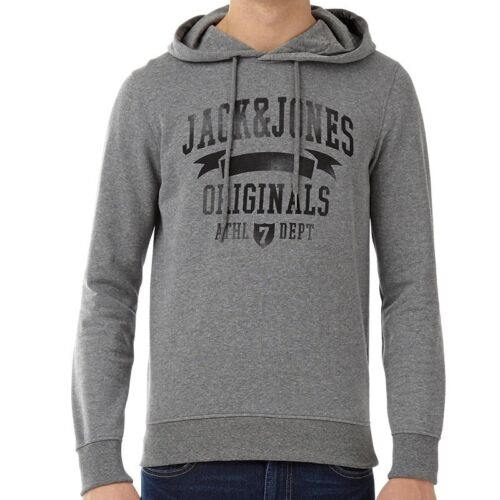 Jack and Jones Mens Full Zip Hoody Sweat Top Winter Wear,Embroidered Quilting