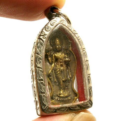 MAA LAKSHMI LAXMI DEVI SRI HINDU DEITY GODDESS RICH WEALTH LUCKY PENDANT AMULET