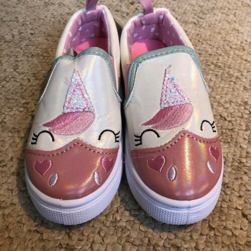 Unicorn Kids Canvas trainers With Memory Foam Insole Size 9