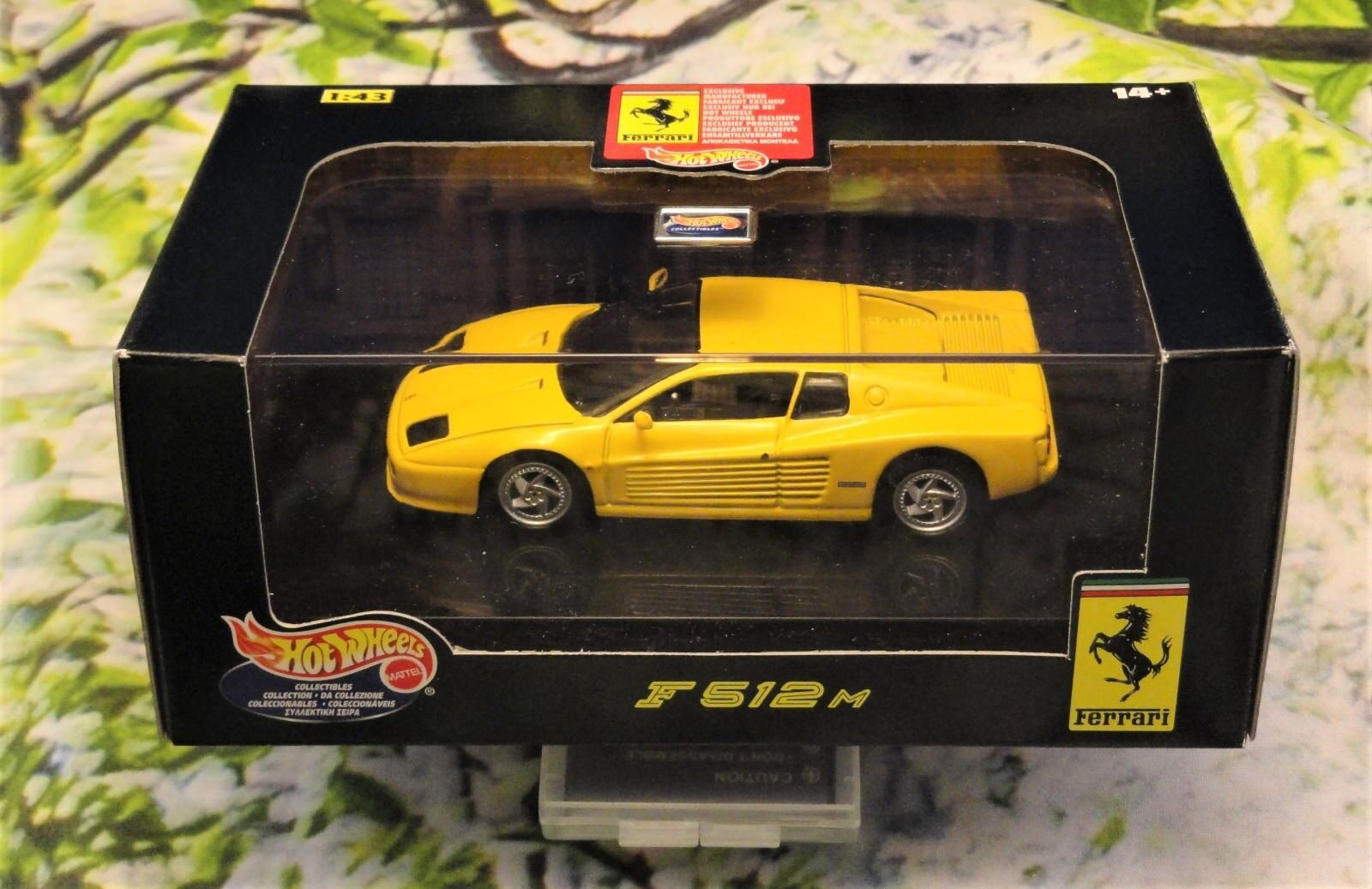 Ferrari 512M 512M 512M yellow 1 43 Hot Wheels c23634