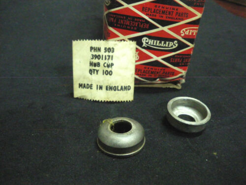 PHILLIPS Bicycle bike 1 pair cones cups for rear Hub NOS 1960s Vintage RALEIGH