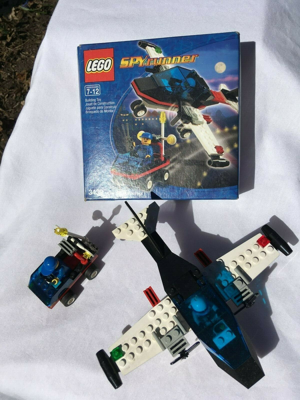 completare  Lego 3439 Spy correrener airplane jet aircraft with instructions e scatola  la migliore offerta del negozio online