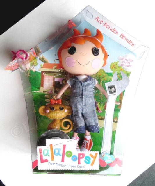 Lalaloopsy ACE FENDER BENDER NEW RETIRED FULL SIZE Boy Doll with Monkey NIB NIP