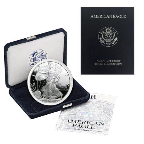 w//Box /& COA 2003-W 1 oz Proof Silver American Eagle