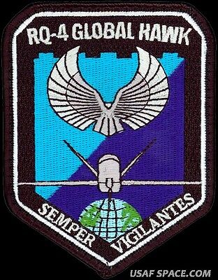 USAF RQ-4 GLOBAL HAWK UAV DRONE AIR FORCE ORIGINAL NRO DOD FLIGHT PATCH
