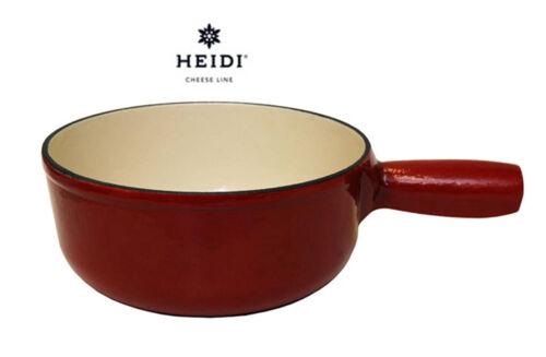 HEIDI Cheese Line Classic Caquelon Induktion Gusseisen rot  Ø 19 cm
