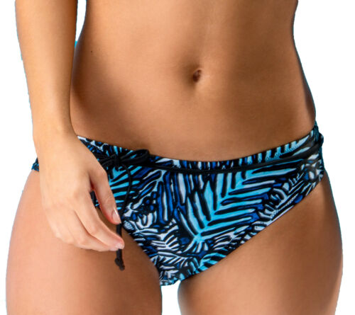 Pour Moi 45005 Barracuda Belted Bikini Brief Pant in Black Blue
