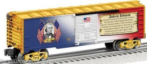 Seleccione de las marcas más nuevas como Lionel ANDREW JOHNSON Furgón   6-25931 Hecho Hecho Hecho en EE. UU. BoxCoche presidencial  estilo clásico